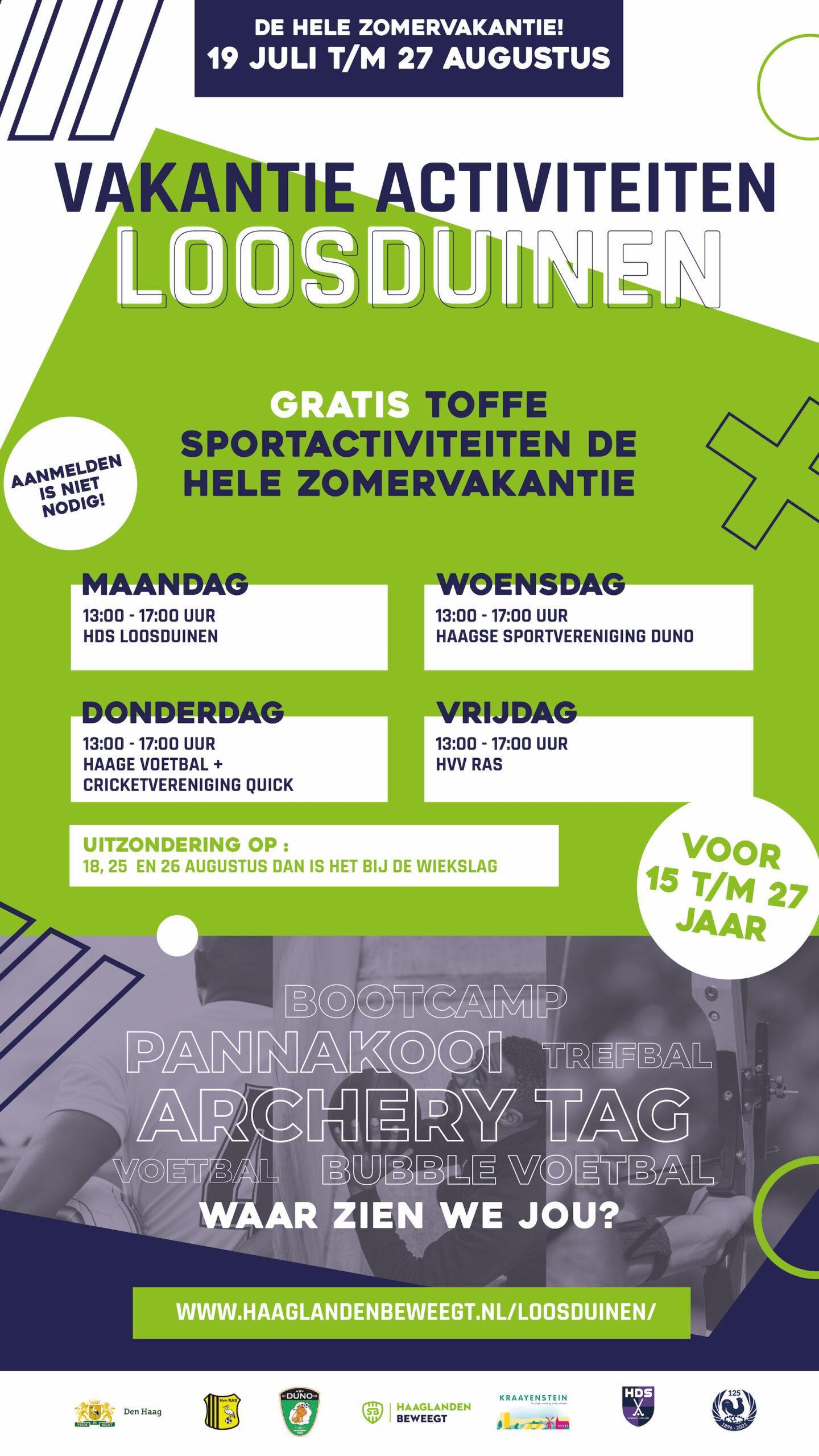 Flyer - Vakantie Activiteiten Loosduinen door Haaglanden Beweegt